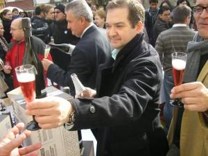 Acción promocional no Mercado de Abastos compostelán